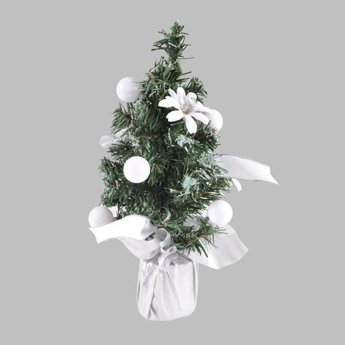 Sapin de Noël Artificiel décoré Blanc 30 cm