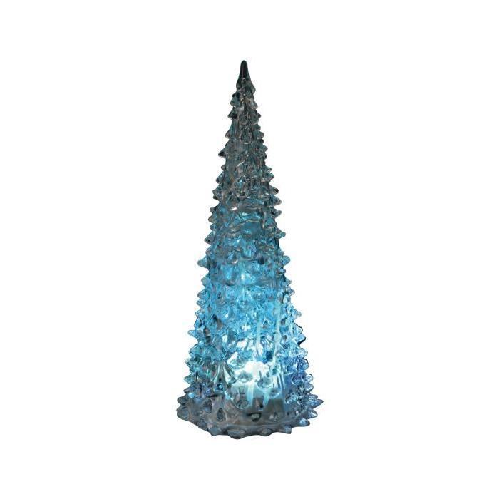 Sapin de Noël lumineux en PVC Multicolore 23 cm