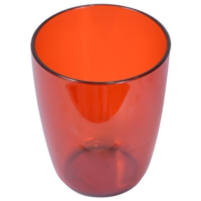 FRANDIS Gobelet rond en plastique Rouge