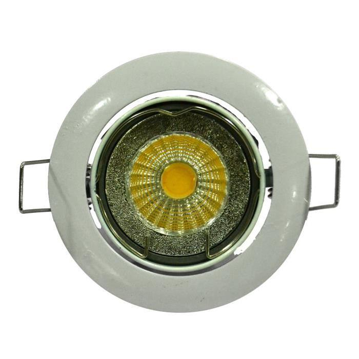 Spot encastrable LED diametre 8,2 cm GU10 5W équivalent a 40W blanc