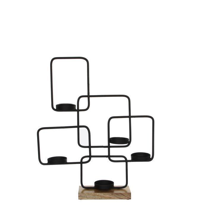 EDELMAN Sculpture Fer - Noire - L45 x l10 x H53 cm