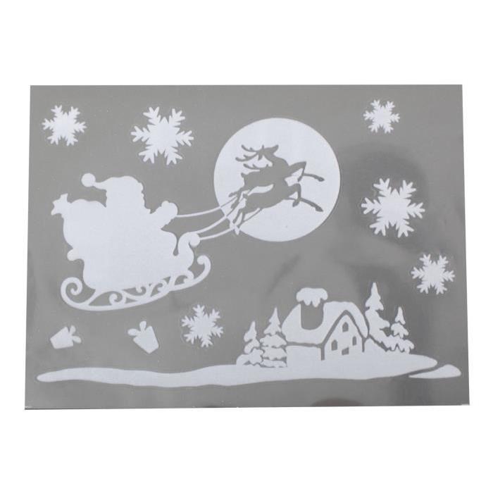 Sticker Pere Noël en velours Blanc 29,5x40 cm