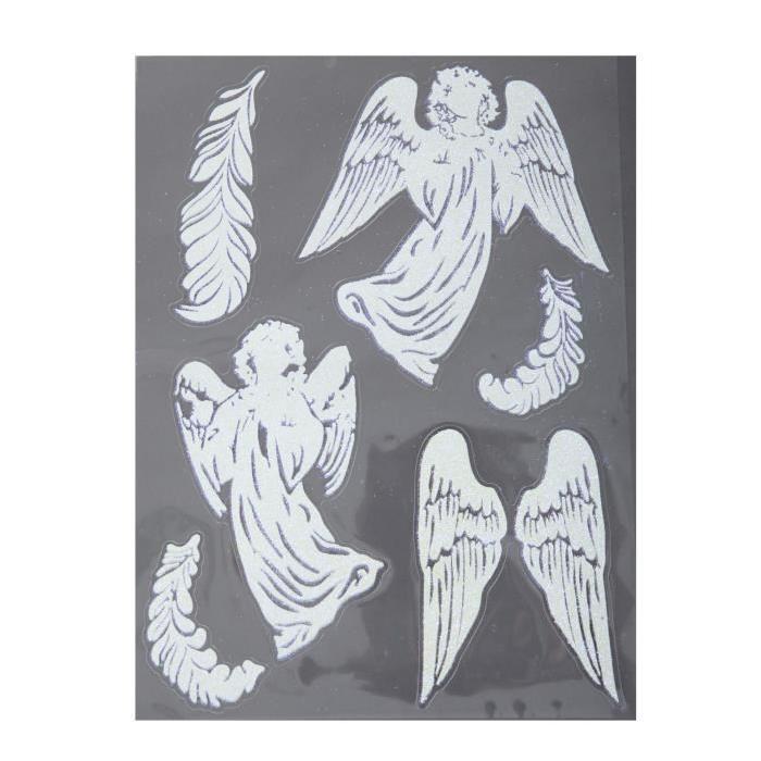 Sticker de Noël paillettes 29,5x40 cm
