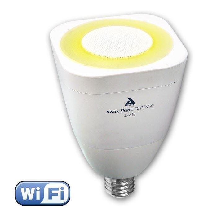 AWOX LIGHT Ampoule LED E27 WiFi son et lumiere avec enceinte intégrée