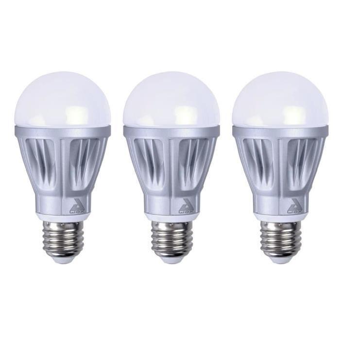 AWOX Lot de 3 Ampoules E27 LED blanches connectées dimmables SmartLIGHT