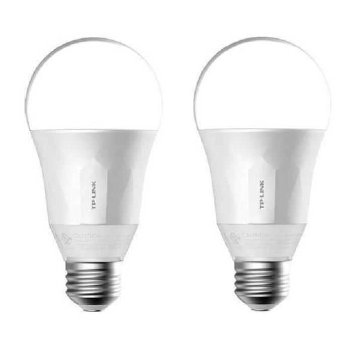 TP-LINK Lot de 2 Ampoules LED LB100 connectées Wi-Fi E27 50 W avec variation de l'intensité lumiere blanche
