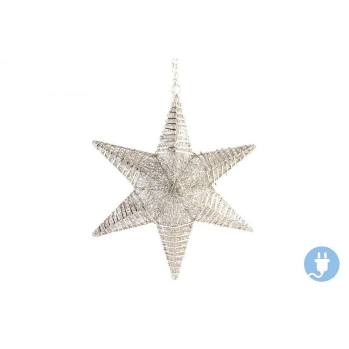 Étoile de Noël Suspendu mat en acier 46 x12 x54 cm