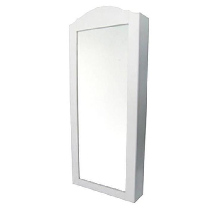 REGINA Armoire a bijoux a fixer avec miroir 35x96x9,2 cm blanc