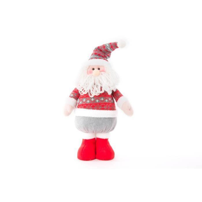 Personnage de Noël Pere Noël en tissu 45cm