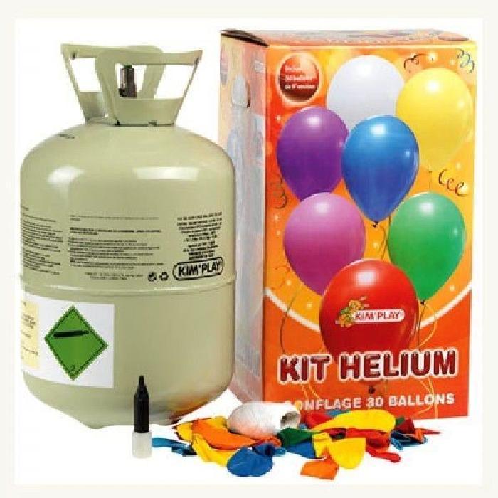 KIMPLAY Bonbonne hélium avec 30 ballons