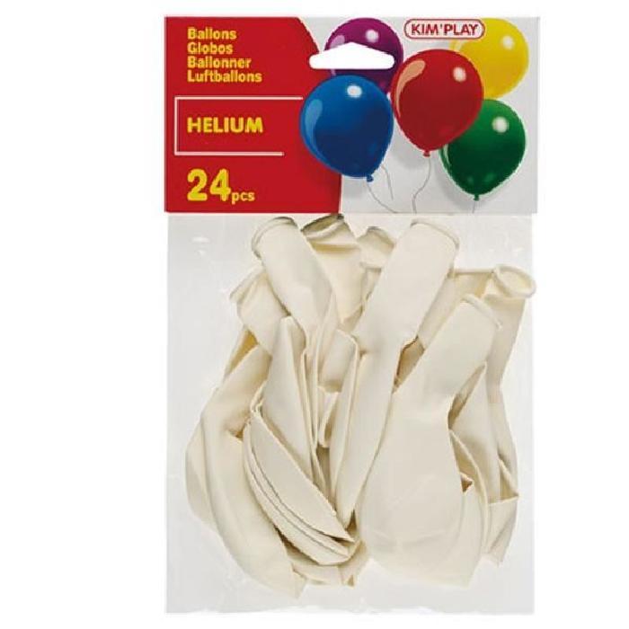 KIMPLAY 24 ballons a hélium - Blanc