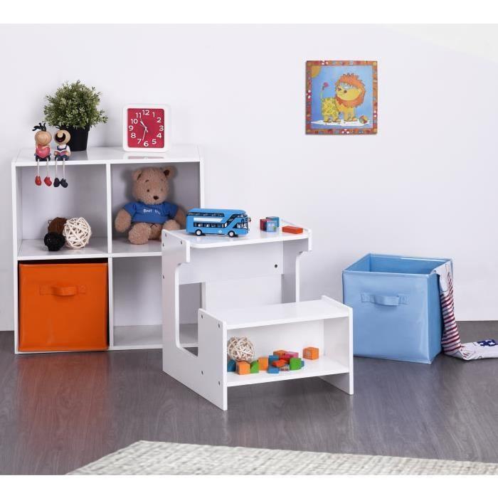 FINLANDEK Bureau enfant + banc KUKKO scandinave blanc - L 41 cm