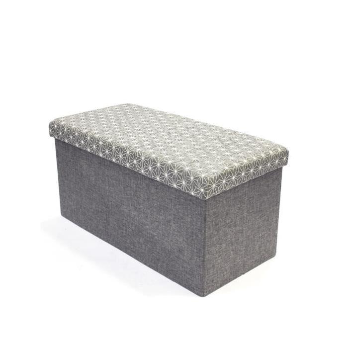 Banc coffre de rangement pliable 76,2x37,5x37,5 cm