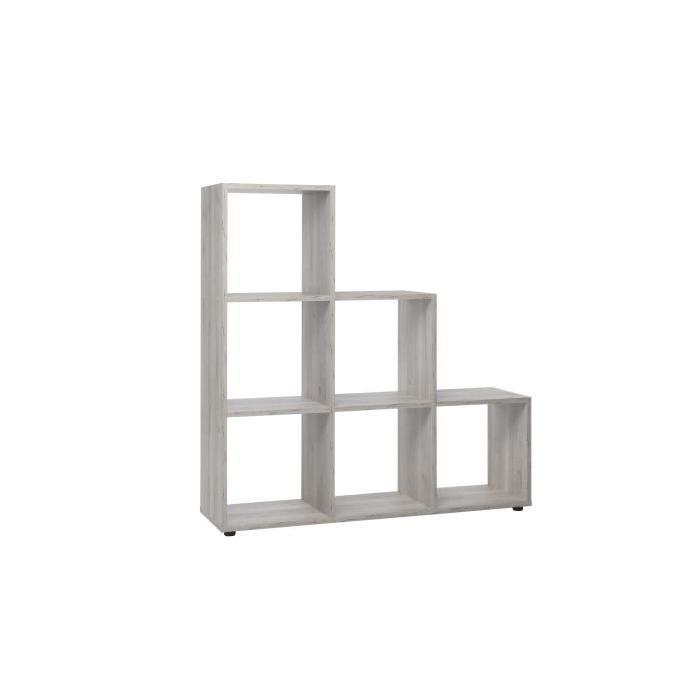 BERGAMO Bibliotheque escalier - Style contemporain - Décor chene sorrento - L 116 cm