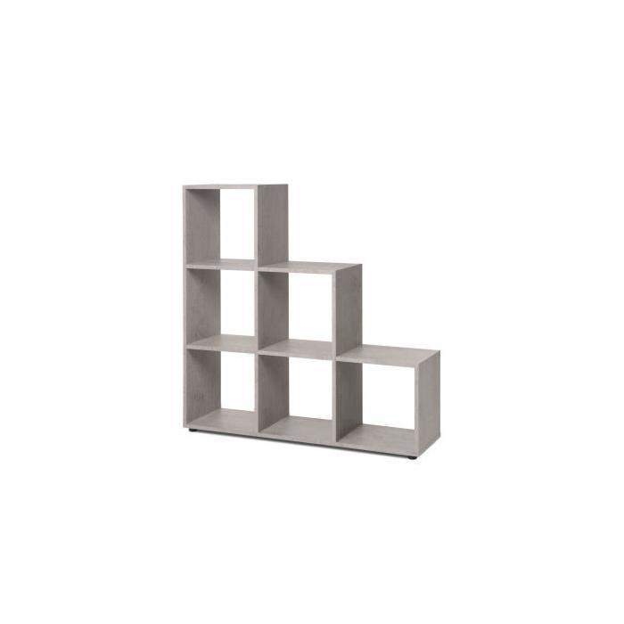 BERGAMO Bibliotheque escalier - Style contemporain - Béton clair - L 116 cm