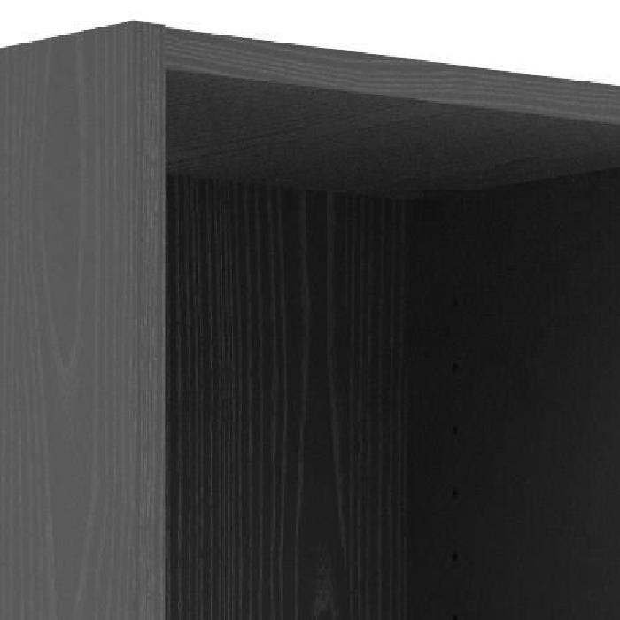 SWISSE Bibliotheque style contemporain noir frene - L 107,2 cm