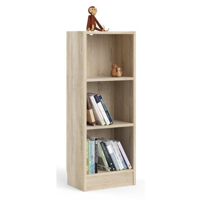 SWISSE Bibliotheque style contemporain décor chene sonoma - L 107,2 cm