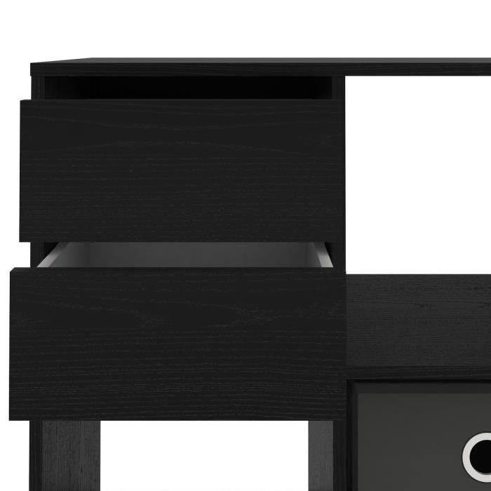 FINLANDEK Bibliotheque étagere HERKKÄ 70cm décor noir frene