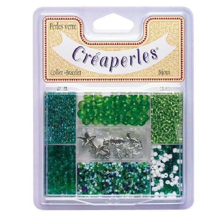 KIMPLAY Kit perles en verre - Vert
