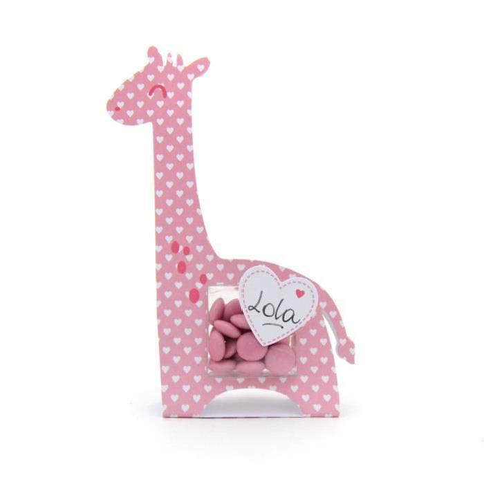 TOGA Lot de 6 boîtes a dragées girafe - fille