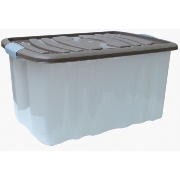 M-HOME ROLL BOX Grand bac de rangement 45L taupe