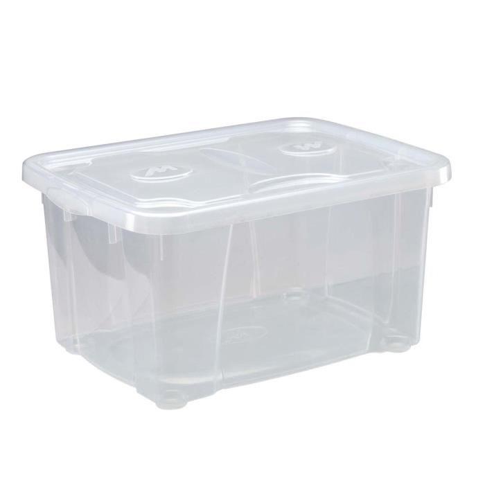 M-HOME SIMPLYBOX Bac de rangement 4,8L transparent