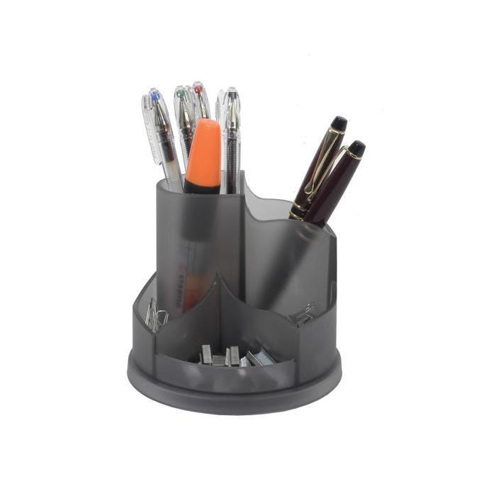 ALBA Multipot de rangement rotatif 5 compartiments gris