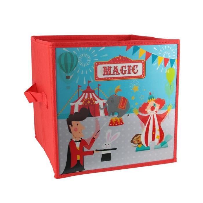 Panier de rangement 3D Cirque - Rouge