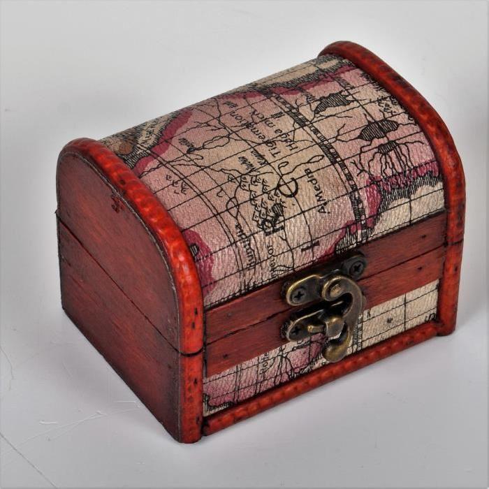MAPPE MONDE Petite malle déco 10 x 7,5 x 7,5 cm