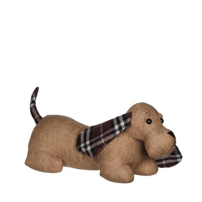 HOUSE OF SEASONS Bloque Porte Chien Marron  L42 x b16 x h18 cm
