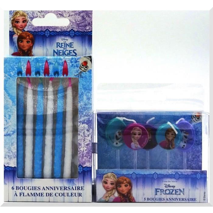 DEVINEAU Lot de 11 bougies Reine des neiges