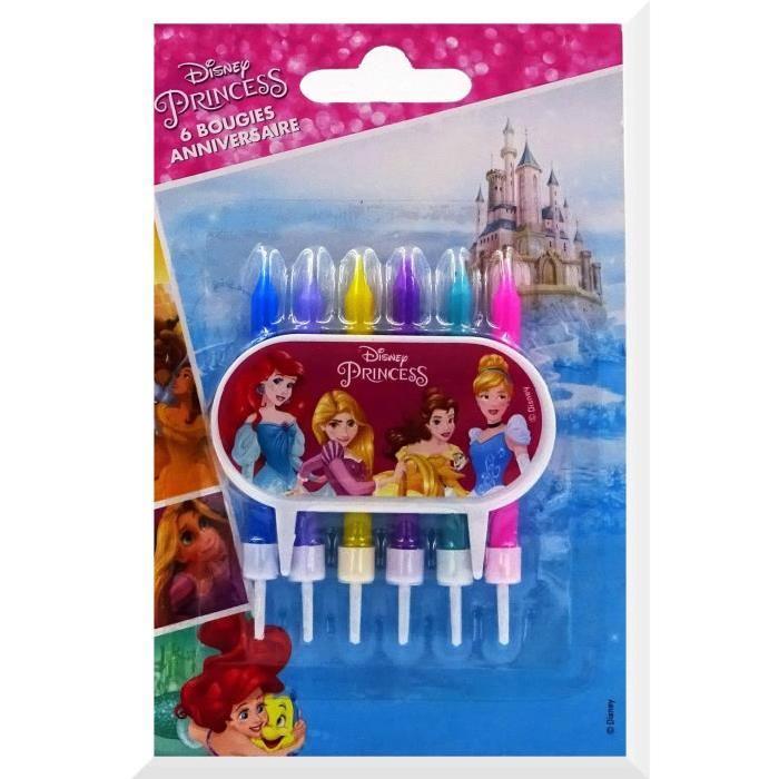 DEVINEAU 6 bougies 6 bobeches avec plaque déco Princess