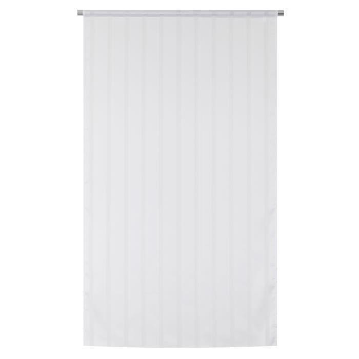 Vitrage Secrete - Passe-tringle - 90 x 190 cm - Blanc