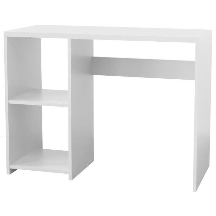 BOX Bureau enfant contemporain mélaminé blanc - L 100 cm