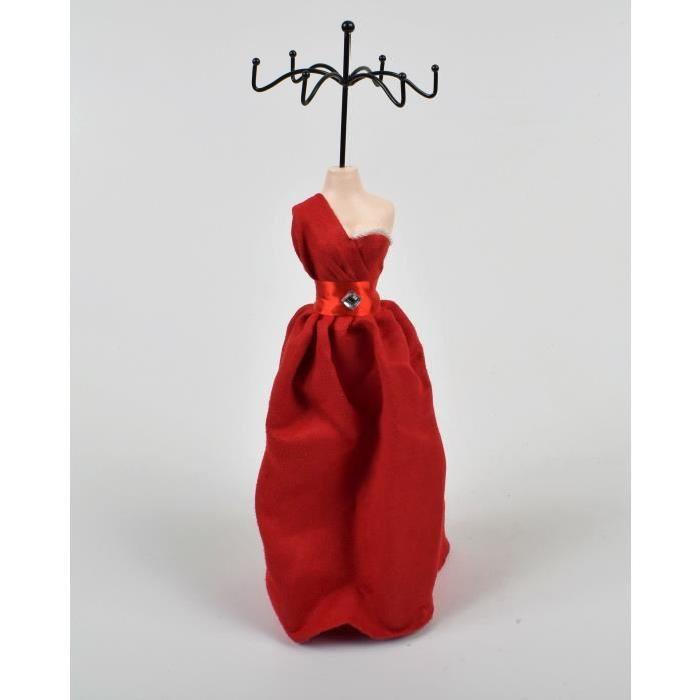 Porte bijoux Mannequin H.40cm Marron,creme,rouge