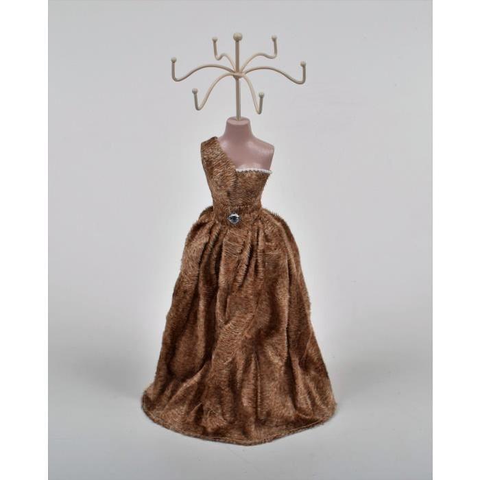 Porte bijoux Mannequin H.40cm Marron