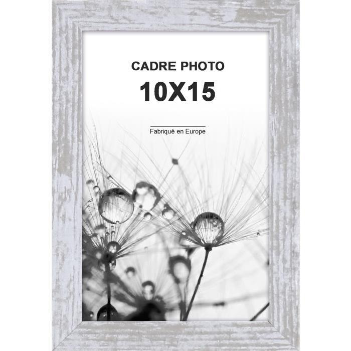 Cadre photo  -  Coffre Harry  -  10x15 - Gris moulure - 15x40mm