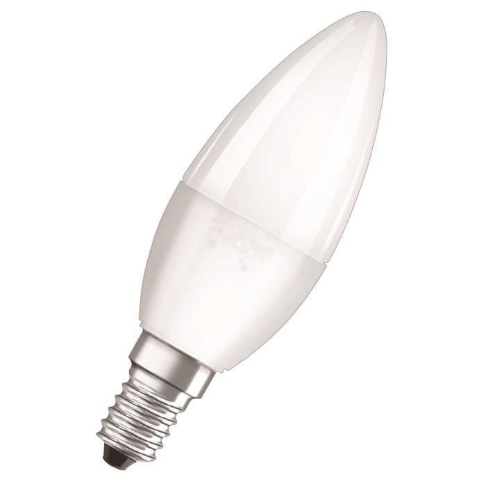 NEOLUX Ampoule LED E14 flamme dépolie 5,3 W équivalent a 40 W blanc chaud