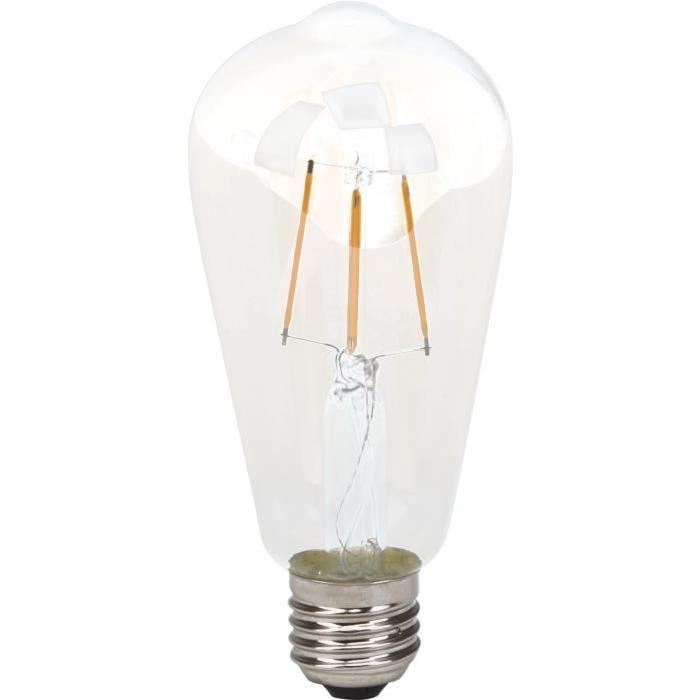 BRILLIANT Ampoule LED filament décorative style retro E27 4 W équivalence 40 W