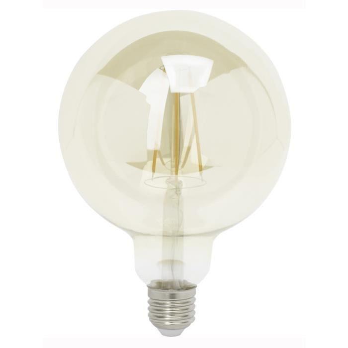 BRILLIANT Ampoule LED filament G95 E27 6 W équivalent a 40 W blanc chaud