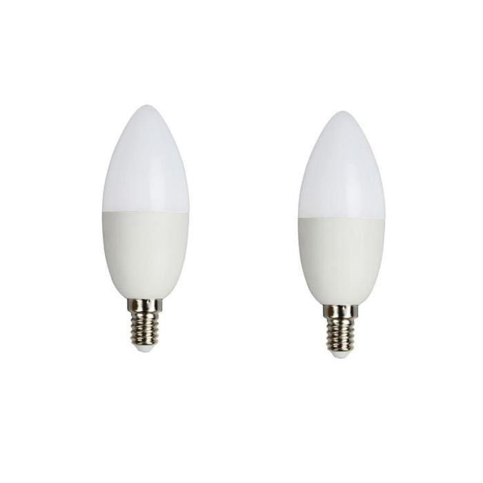BRILLIANT Lot de 2 ampoules LED E14 Candle 5 W équivalent a 25 W 400 lm avec variateur d'intensité Easydim