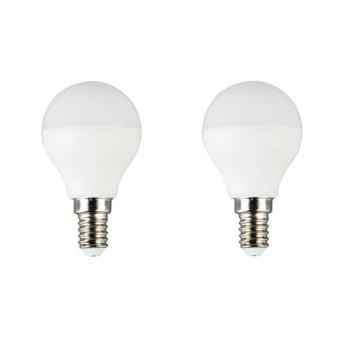 BRILLIANT Lot de 2 ampoules LED E14 P45 5 W équivalent a 25 W 400 lm avec variateur d'intensité Easydim