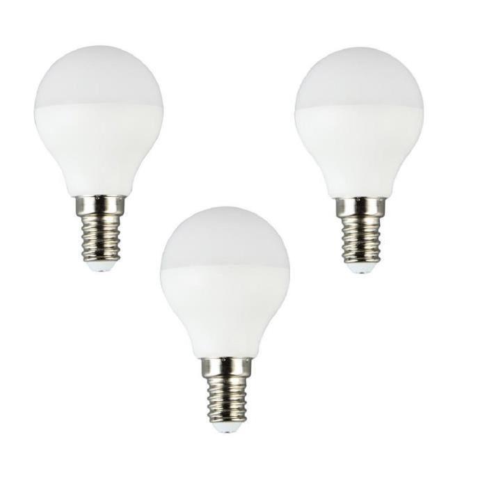 BRILLIANT Lot de 3 ampoules LED E14 P45 5 W équivalent a 25 W 400 lm avec variateur d'intensité Easydim