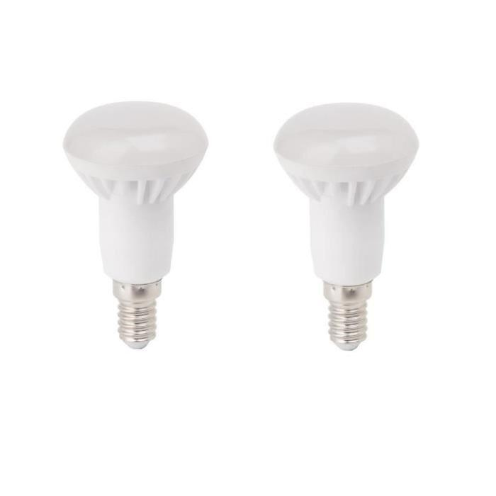 BRILLIANT Lot de 2 ampoules LED E14 R50 5 W équivalent a 25 W 400 lm avec variateur d'intensité Easydim