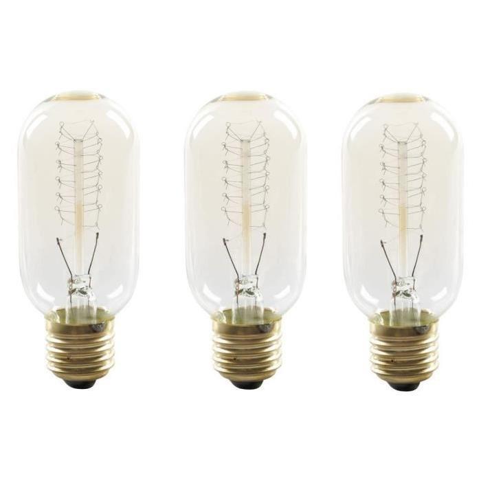 EXPERT LINE Lot de 3 Ampoules a incandescence décorative E27 25 W compatibles variateur