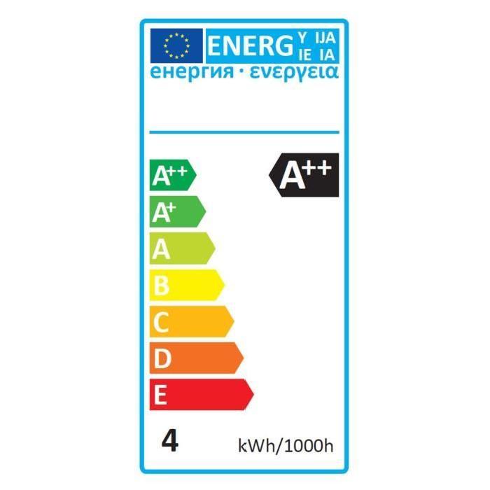 EXPERT LINE Lot de 3 Ampoules LED filament E27 G45 SMD 4 W équivalent a 36 W blanc chaud