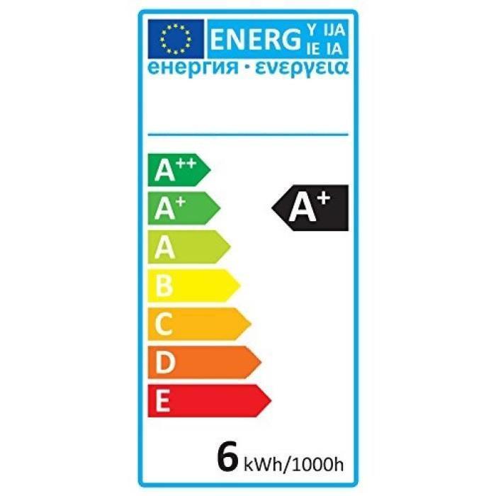 EXPERT LINE Lot de 3 Ampoules LED filament E27 G95 SMD 6 W SMD céramique 6 W équivalence 48 W blanc chaud
