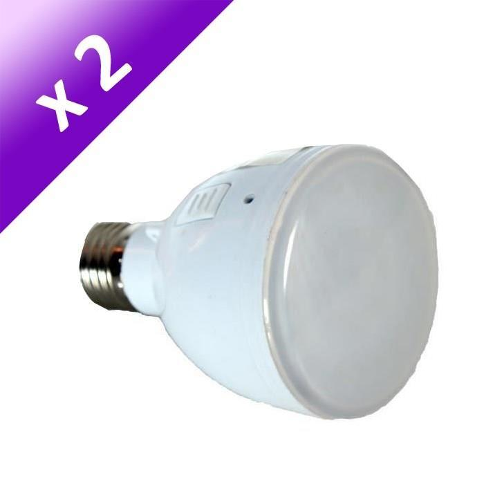 Lot de 2 Ampoules LED E27 4 W équivalent a 40 W blanc froid