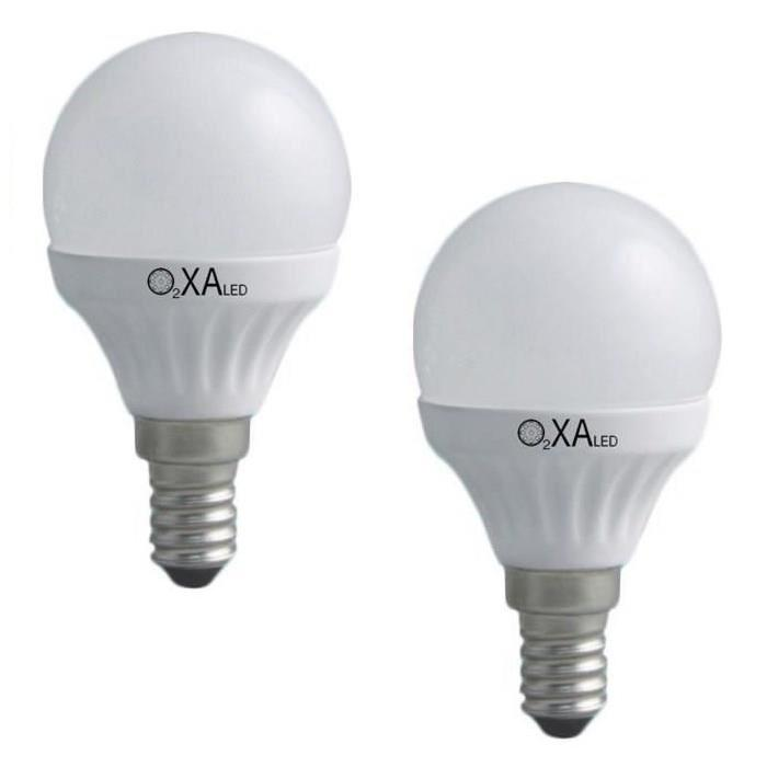 Lot de 2 Ampoules LED E14 5 W équivalent a 40 W blanc neutre