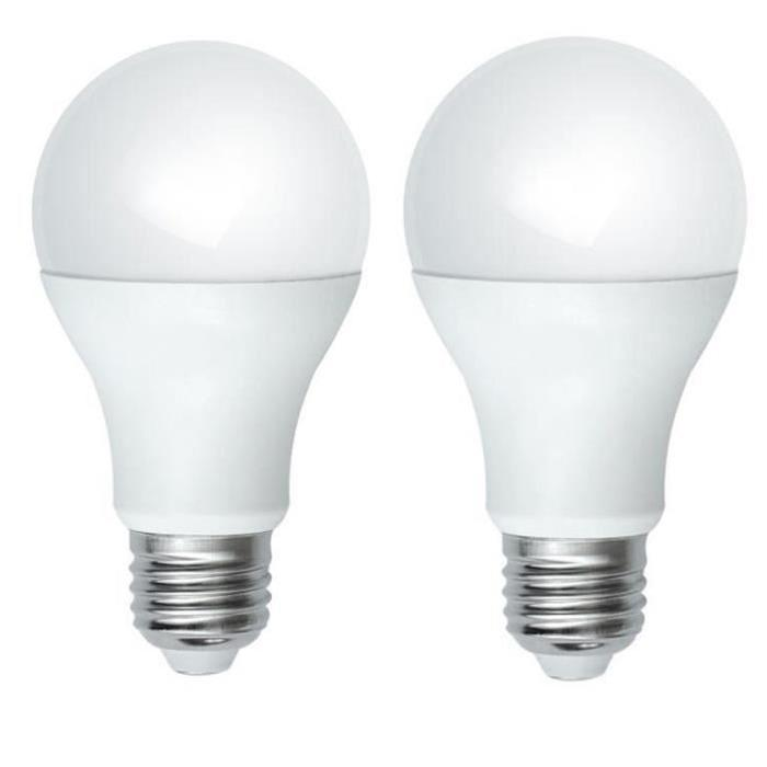 Lot de 2 Ampoules LED E27 10 W équivalent a 100 W blanc neutre
